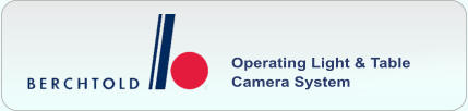 Operating Light & Table Camera System